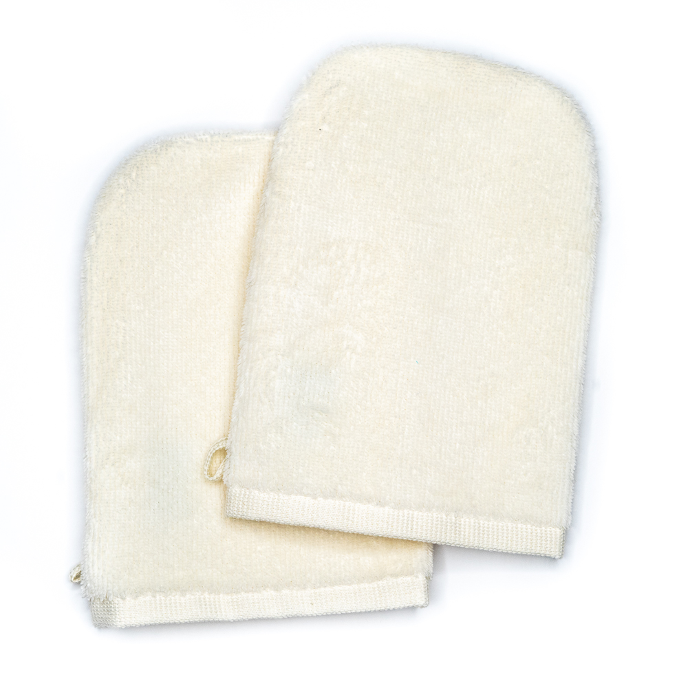 Wash Gloves 14x21 cream (2 items in a pack)