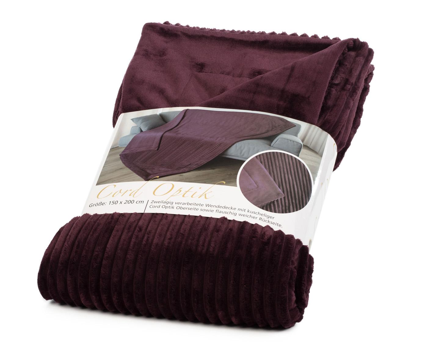 Blankets Cord Optik 150x200 blackberry