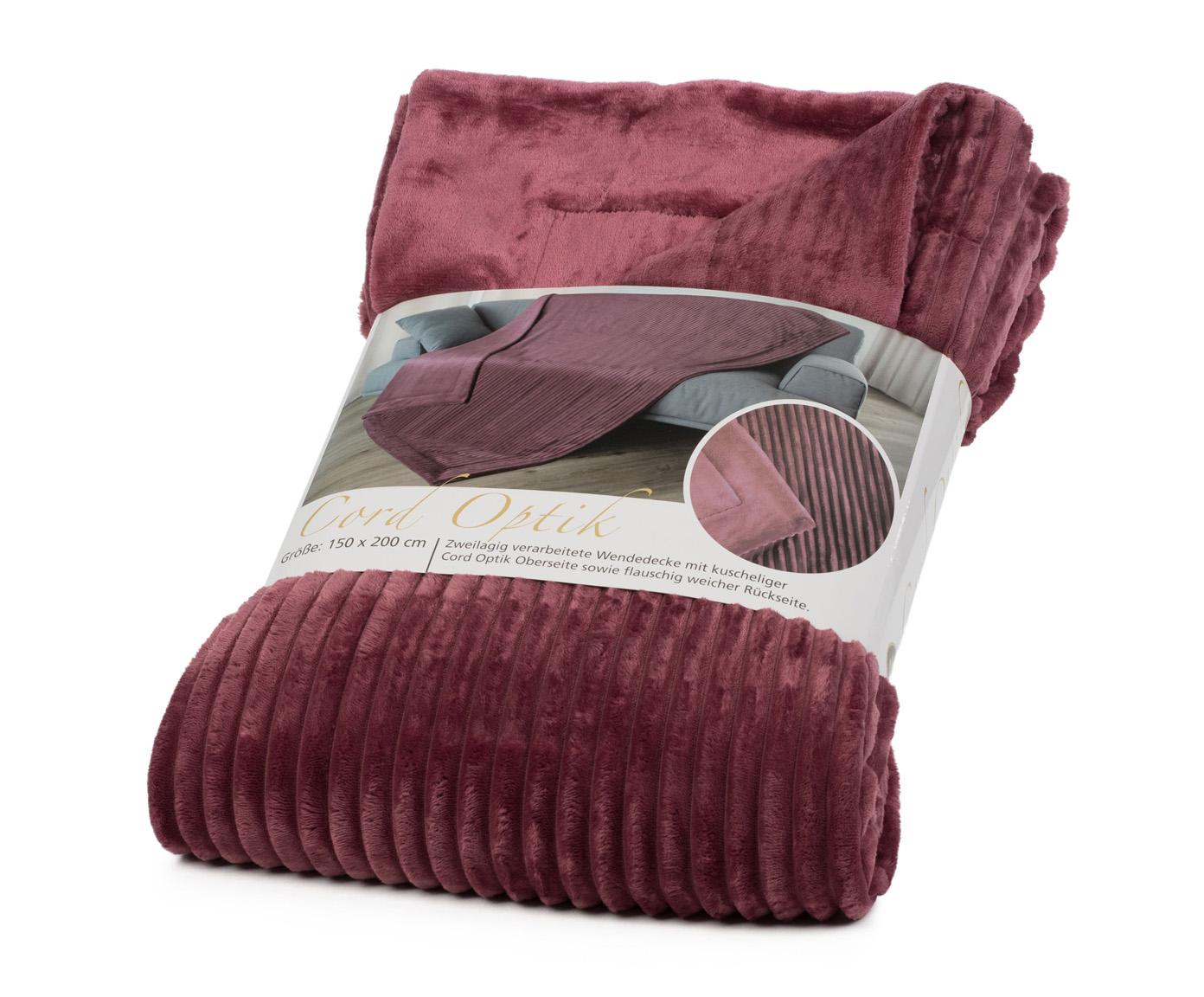 Blankets Cord Optik 150x200 berry