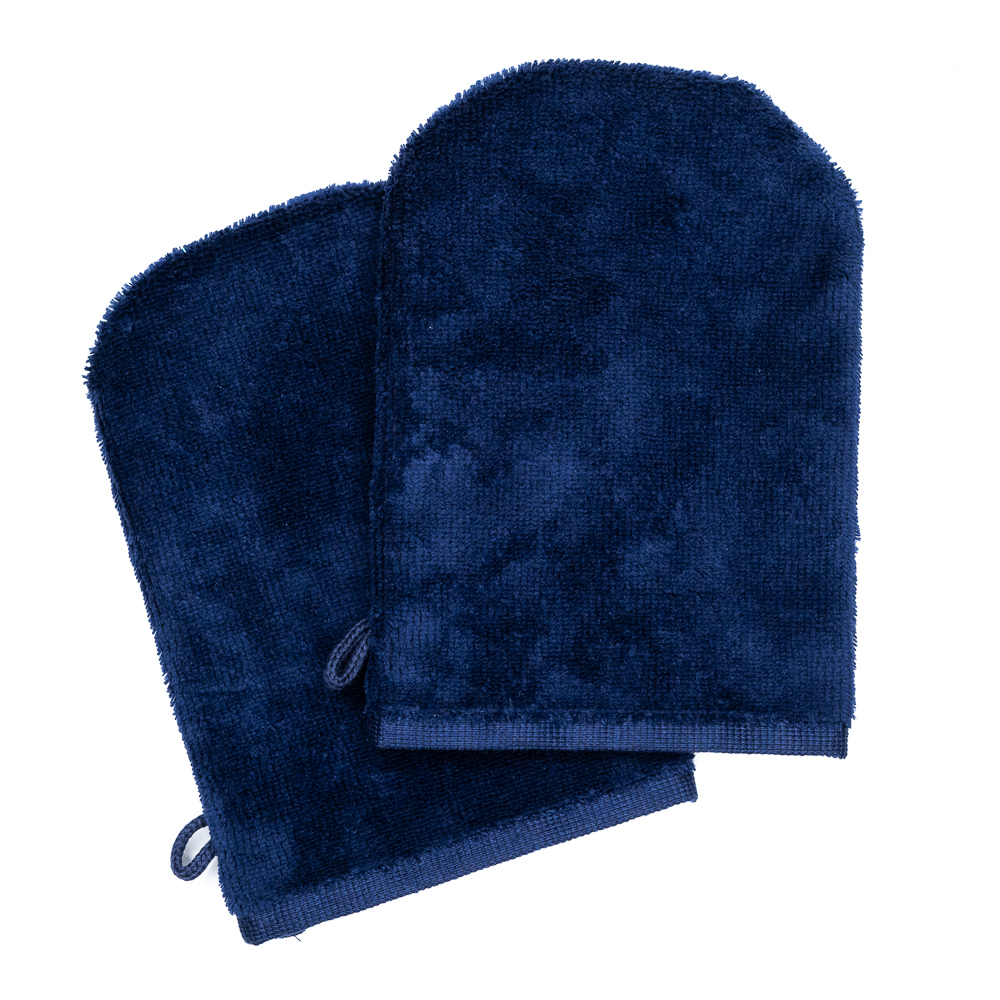 Wash Gloves 14x21 navy blue (2 items in a pack)