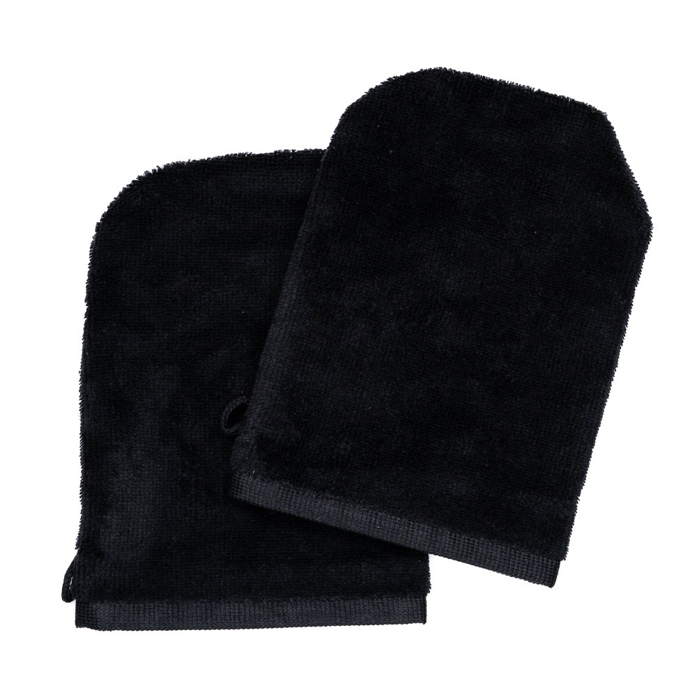 Wash Gloves 14x21 black (2 items in a pack)