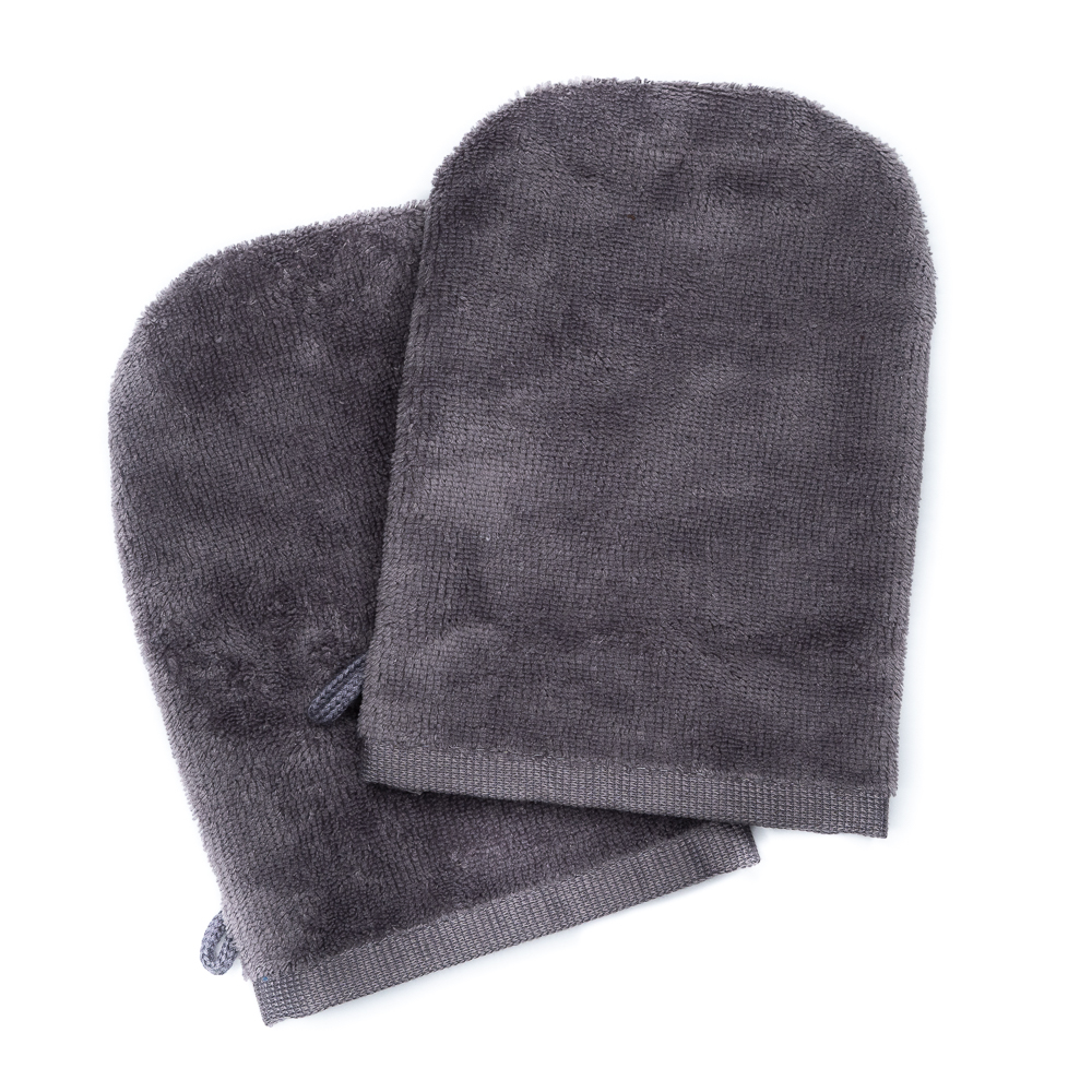 Wash Gloves 14x21 grey (2 items in a pack)