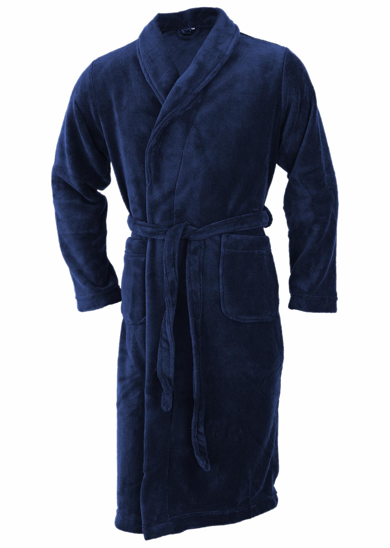 Bath Robes Comfort navy blue