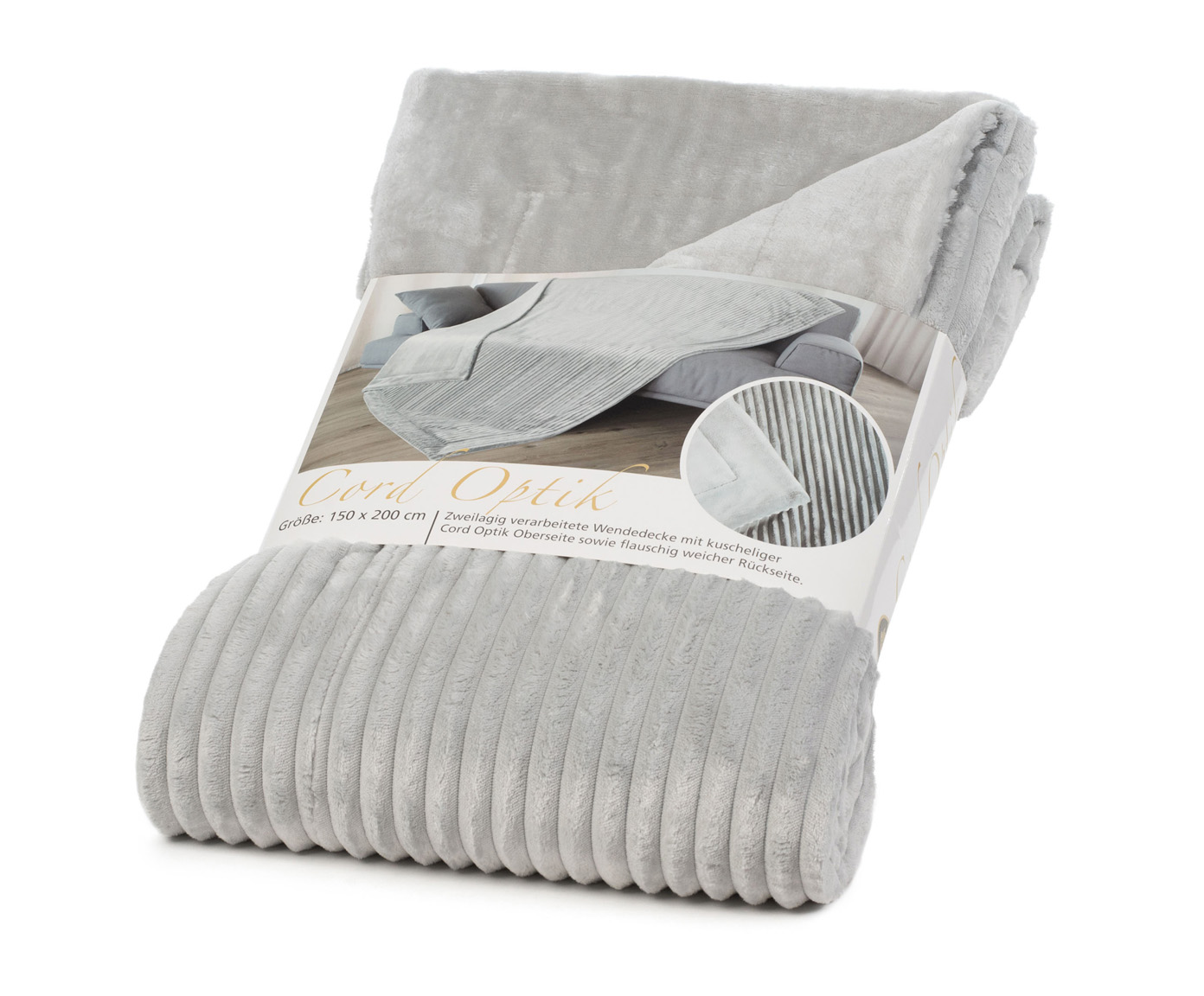 Blankets Cord Optik 150x200 silver