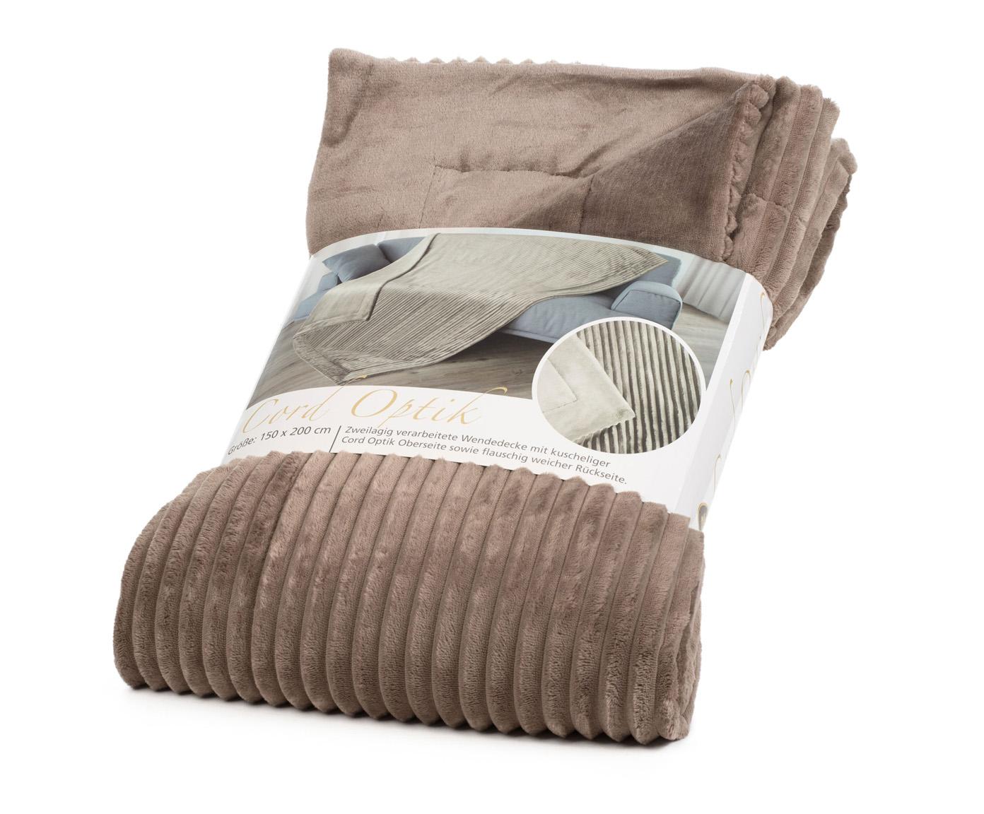 Blankets Cord Optik 150x200 taupe