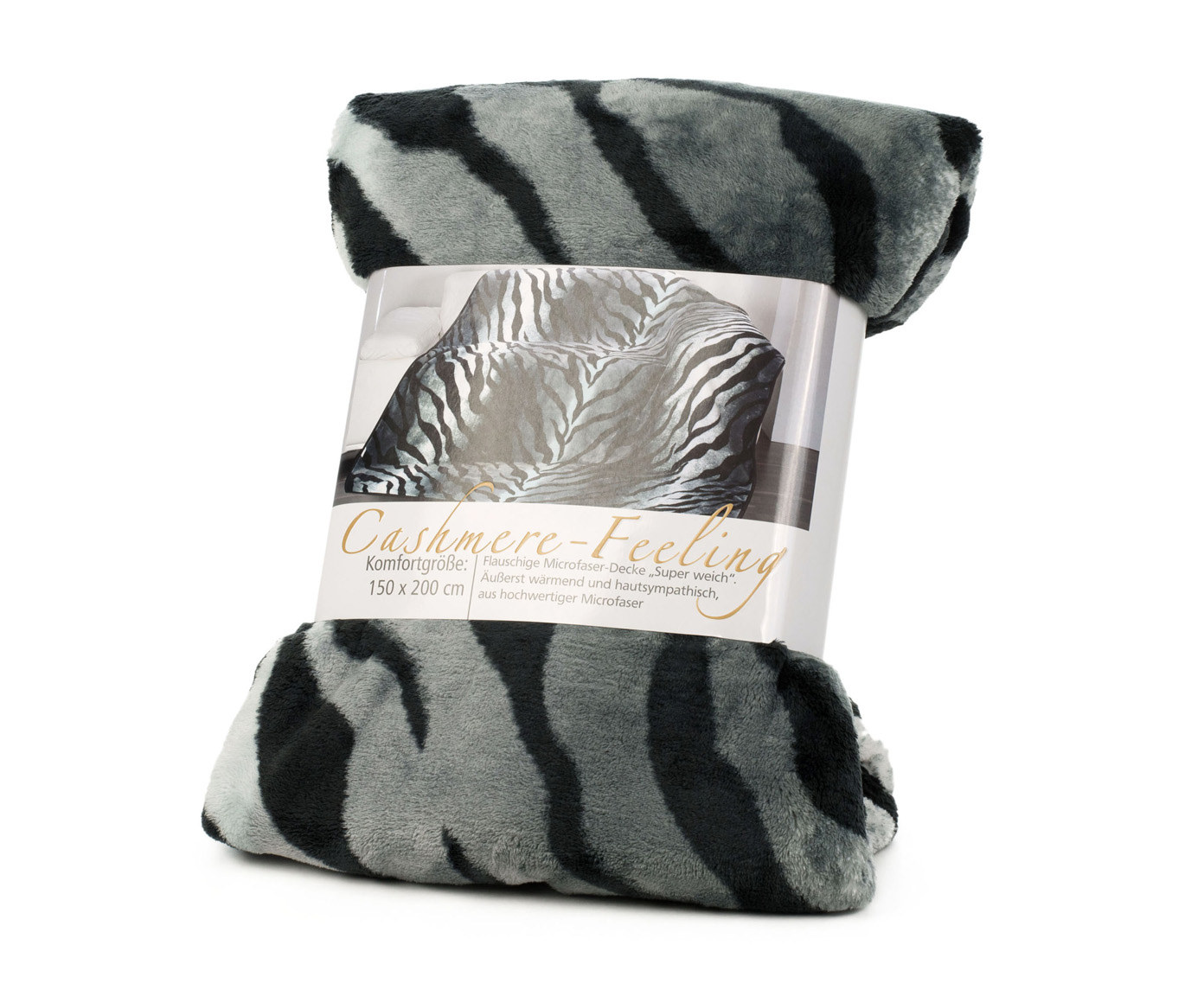 Blanket Cashmere Feeling 150x200 Siberian Tiger silver